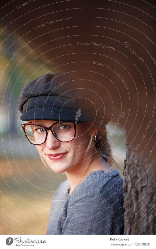 #A# Frau im Herbst 1 Mensch ästhetisch Model Modellfigur herbstlich Herbstlaub Herbstfärbung Herbstbeginn Herbstwald Herbstwetter Herbstlandschaft Gesicht