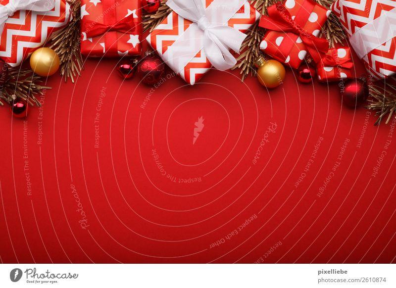 Last Christmas Winter Innenarchitektur Dekoration & Verzierung Feste & Feiern Weihnachten & Advent Silvester u. Neujahr gold rot Wunsch Geschenk Geschenkpapier