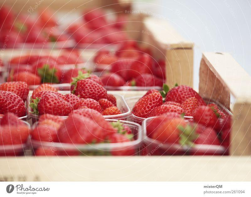 Erdbeerbecher für immer! rot Lebensmittel Kunst Gesundheit Zufriedenheit Frucht ästhetisch viele Gesunde Ernährung lecker Jahrmarkt Sammlung Markt Kiste Beeren