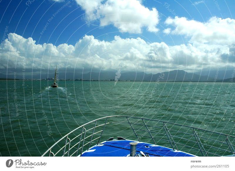 Wasser Ferien & Urlaub & Reisen Meer Wolken Ferne Küste Wasserfahrzeug Freizeit & Hobby Verkehr Tourismus Segeln Australien Segelboot Jacht Kreuzfahrt
