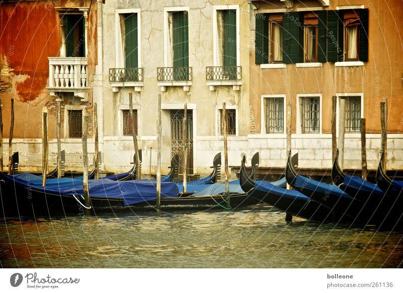 Venedig in bunt alt Stadt Ferien & Urlaub & Reisen Sommer Haus Wand Architektur Mauer dreckig Fassade Vergänglichkeit Italien Sehnsucht Vergangenheit Balkon