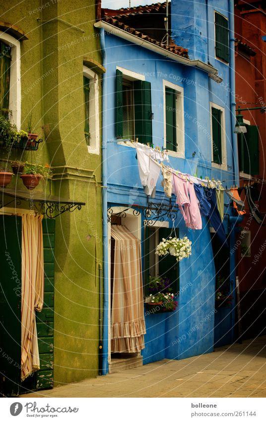 Burano ist bunt Ferien & Urlaub & Reisen Sommer Haus Fenster Wand Architektur Mauer Tür Fassade Ausflug Tourismus Italien