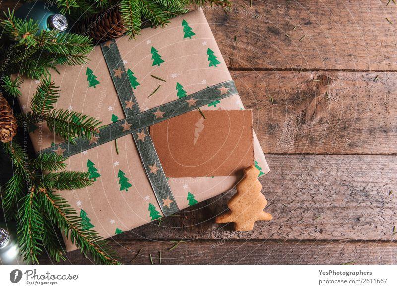 Weihnachten & Advent Liebe Textfreiraum Postkarte Tradition Holztisch Transparente blanko Lebkuchen