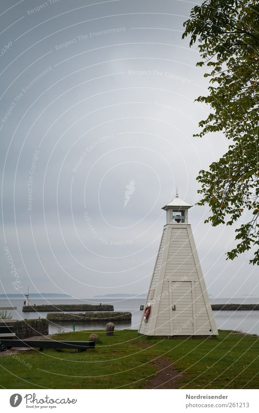 Göta Kanal Ferien & Urlaub & Reisen Tourismus Ferne Landschaft schlechtes Wetter Park Wiese Küste Seeufer Fischerdorf Leuchtturm Bauwerk Gebäude Architektur