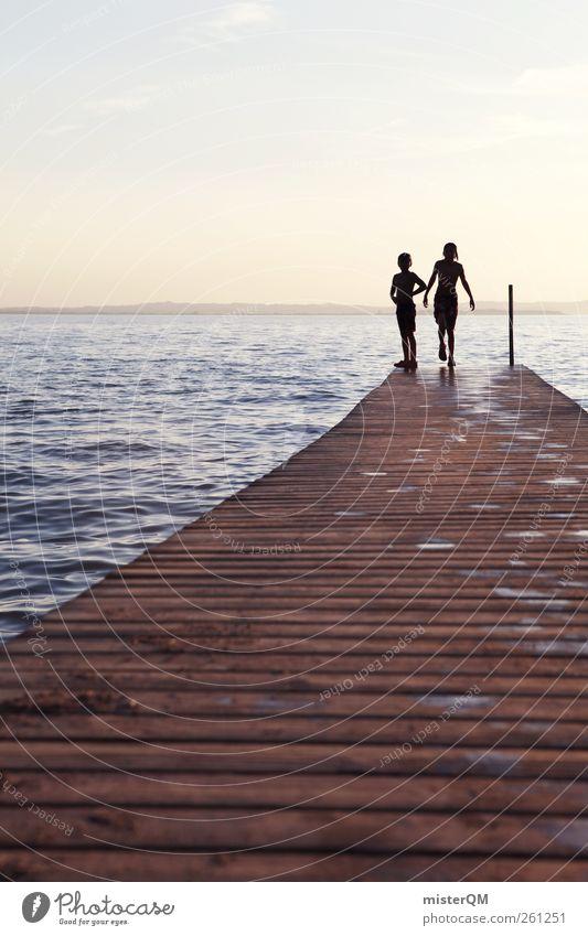These Sundays. Kind Jugendliche Wasser Sommer Einsamkeit Erholung Spielen springen See träumen Freundschaft Kunst 2 Abenteuer ästhetisch Idylle
