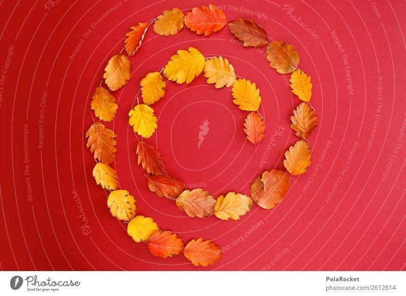 #A# Herbst-Strudel Kunst ästhetisch Gleichgewicht Muster Wasserwirbel herbstlich Design Herbstlaub Herbstfärbung Herbstbeginn Herbststurm Herbstwind rot