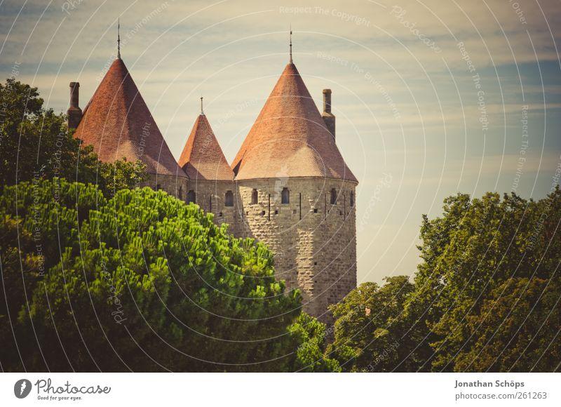 Carcassonne VIII Baum Ferien & Urlaub & Reisen Ferne Landschaft Architektur Freiheit Gebäude Ausflug Tourismus Turm Idylle Bauwerk fantastisch Burg oder Schloss