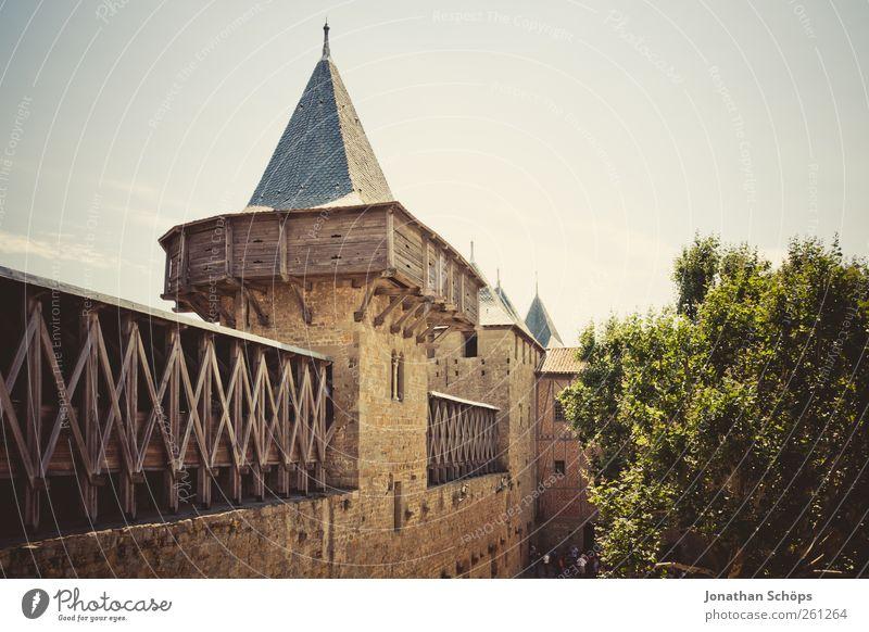Carcassonne IX Ferien & Urlaub & Reisen Ferne Architektur Freiheit Wärme Stein Ausflug Abenteuer Tourismus Turm Schutz Bauwerk Frankreich Sommerurlaub Märchen