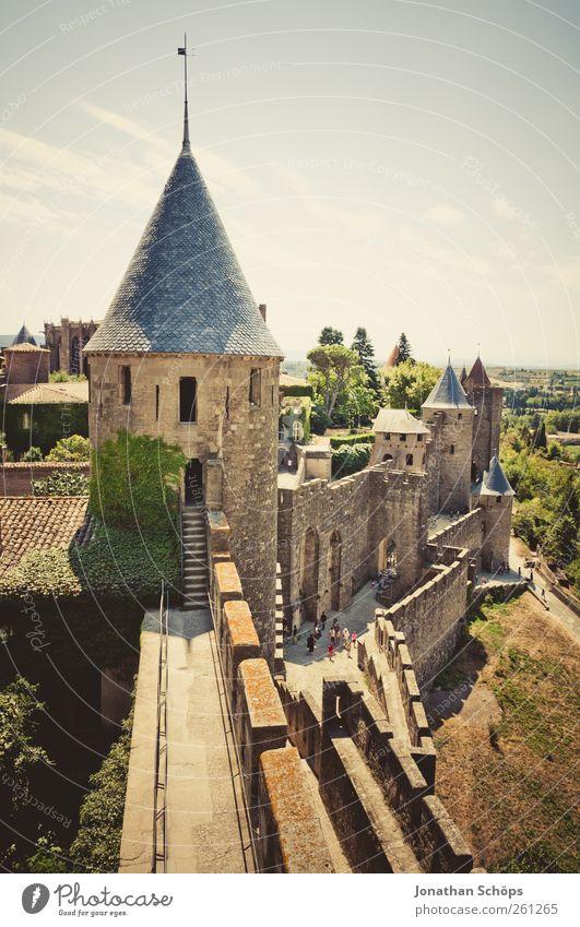 Carcassonne X Stadt Ferien & Urlaub & Reisen Ferne Landschaft Architektur Freiheit Mauer Ausflug Abenteuer Turm Idylle Bauwerk Burg oder Schloss Frankreich