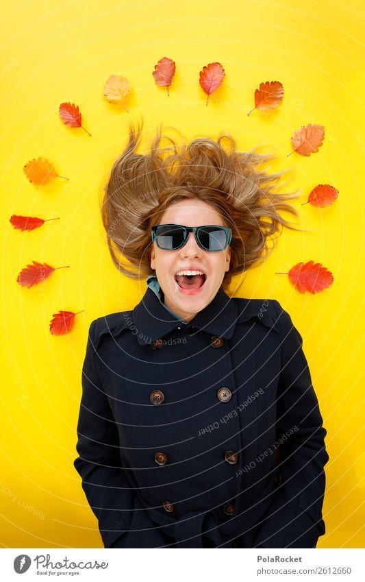 #A# Vom Herbste verweht 1 Mensch Kunst ästhetisch herbstlich Herbstlaub Herbstfärbung Herbstbeginn Herbstwetter Herbststurm Herbstwind Kreativität Mode Frau