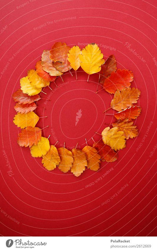#A# Herbst-Rad Kunst ästhetisch herbstlich Herbstlaub Herbstfärbung Herbstbeginn Herbstwald Blatt Jahreszeiten Dekoration & Verzierung Kreativität Design rot