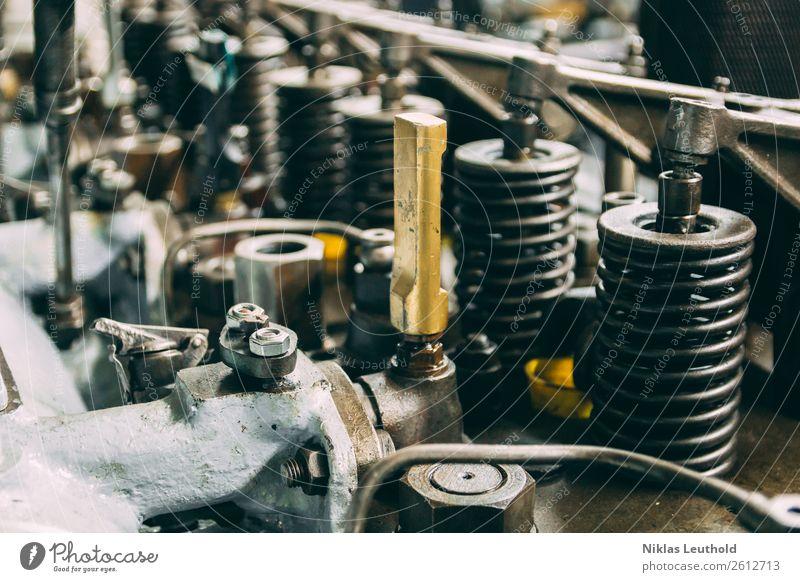 Antrieb Mechaniker Industrie Maschine Motor Getriebe Technik & Technologie Verkehrsmittel Schifffahrt Arbeit & Erwerbstätigkeit Bewegung alt dreckig