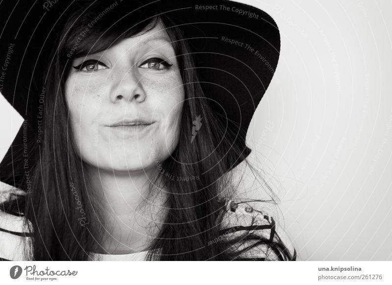 c):) Mensch Frau Jugendliche schön Freude Erwachsene feminin Stil Mode Zufriedenheit Fröhlichkeit Lifestyle retro 18-30 Jahre Junge Frau Lächeln