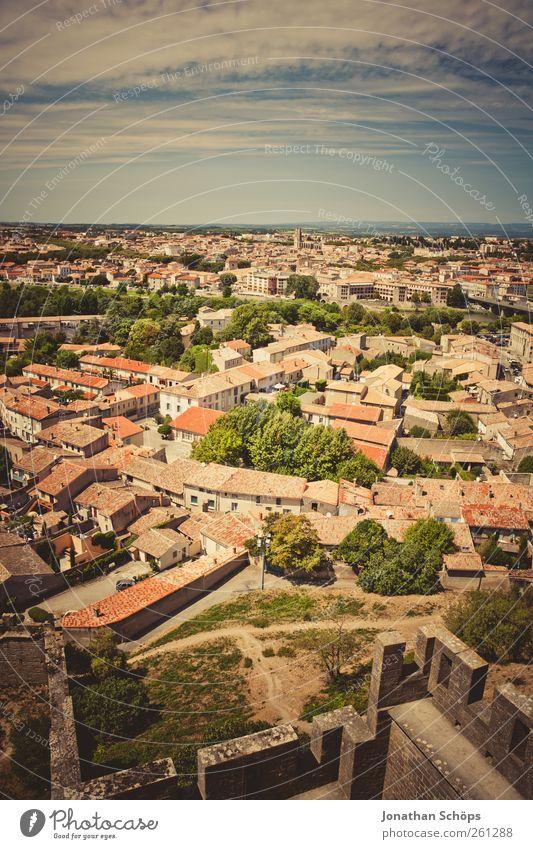 Carcassonne XIV Stadt Ferien & Urlaub & Reisen Ferne Architektur Freiheit Gebäude Horizont Ausflug Abenteuer Dach Idylle Bauwerk Aussicht historisch Frankreich