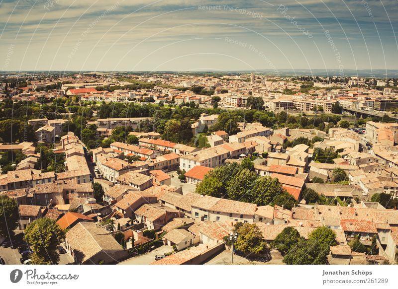 Carcassonne XV alt grün Stadt rot Ferien & Urlaub & Reisen Haus Ferne Architektur Freiheit Gebäude Horizont Ausflug Abenteuer Häusliches Leben Dach Aussicht