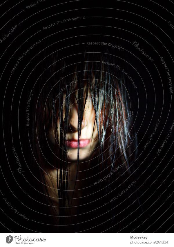 Nothing is lost,... Mensch Jugendliche weiß rot schwarz Erwachsene dunkel feminin kalt grau Haare & Frisuren braun rosa glänzend wild Mund
