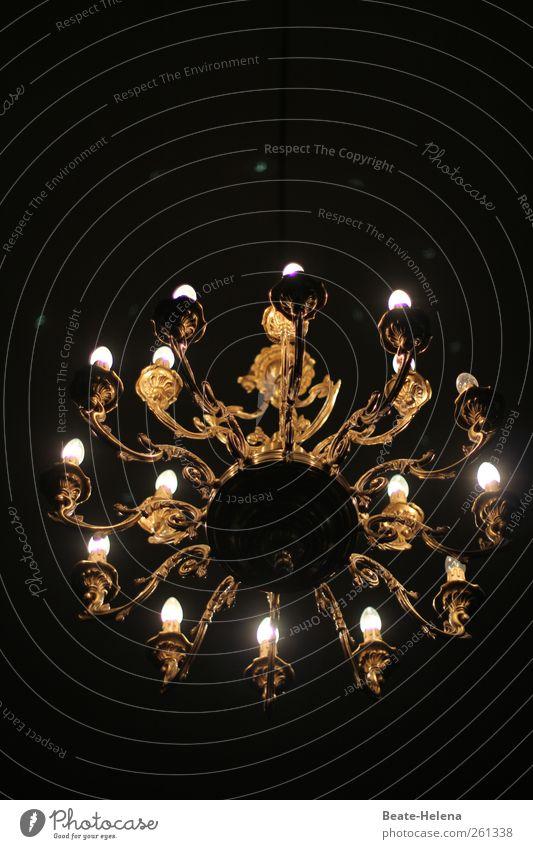 Die Suche nach dem nächsten Kronleuchter weiß schwarz Stil Metall Lampe Innenarchitektur gold Wohnung elegant Design ästhetisch Dekoration & Verzierung