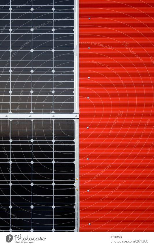 Power rot Ordnung Energiewirtschaft Elektrizität Zukunft Wandel & Veränderung Industrie Sauberkeit Sonnenenergie ökologisch Klimawandel Solarzelle Fortschritt
