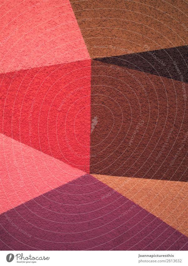 Rot Design Kindergarten Kunst Mauer Wand Wärme braun violett rosa rot Puzzle Geometrie Strukturen & Formen Farbfoto abstrakt Muster