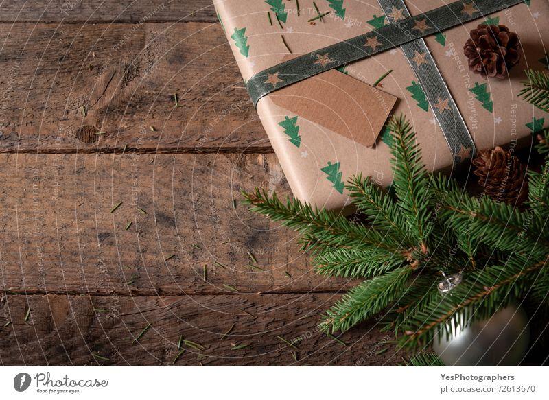 Weihnachten & Advent Textfreiraum Dekoration & Verzierung Tradition Holztisch Mitteilung Transparente blanko Kiefernzapfen