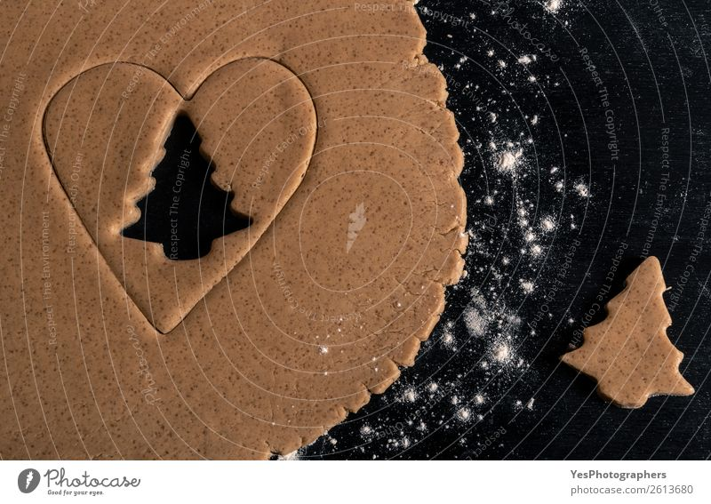 Lebkuchen Keksbaumform Teigwaren Backwaren Küche Feste & Feiern Weihnachten & Advent Kultur Tradition obere Ansicht Bäckerei backen Weihnachtsbaum Konfekt