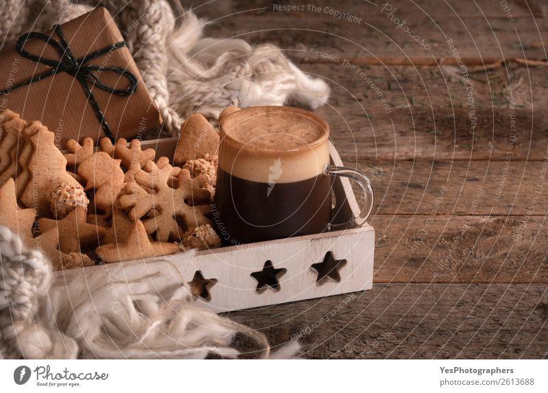 Weihnachten & Advent Winter Lifestyle Familie & Verwandtschaft Glück Feste & Feiern braun Freizeit & Hobby Dekoration & Verzierung Tisch Geschenk Kaffee