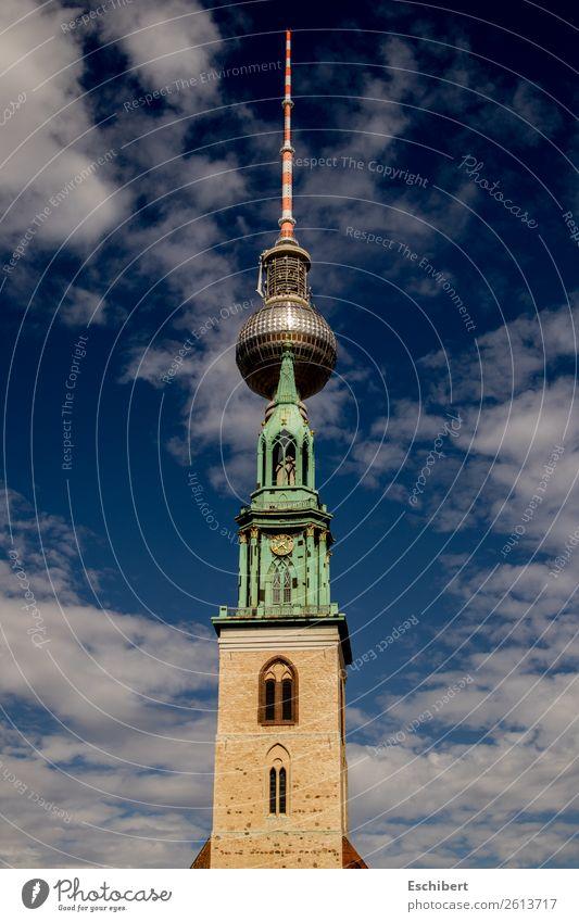 Fusion der Giganten Ferien & Urlaub & Reisen Tourismus Ausflug Technik & Technologie Architektur Kultur Himmel Wolken Schönes Wetter Berlin Stadt Kirche Turm