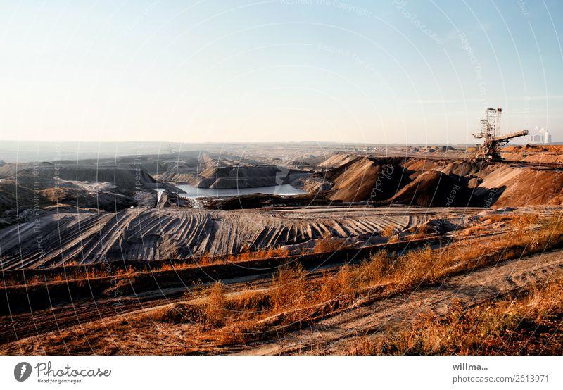 Braunkohletagebau im Leipziger Umland Braunkohlentagebau Halde Abraumhalden See Energiewirtschaft Technik & Technologie Stromkraftwerke Heizkraftwerk
