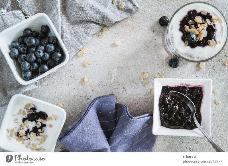 Frühstückszeit Lebensmittel Joghurt Milcherzeugnisse Frucht Getreide Marmelade Ernährung Bioprodukte Vegetarische Ernährung Schalen & Schüsseln Gesundheit