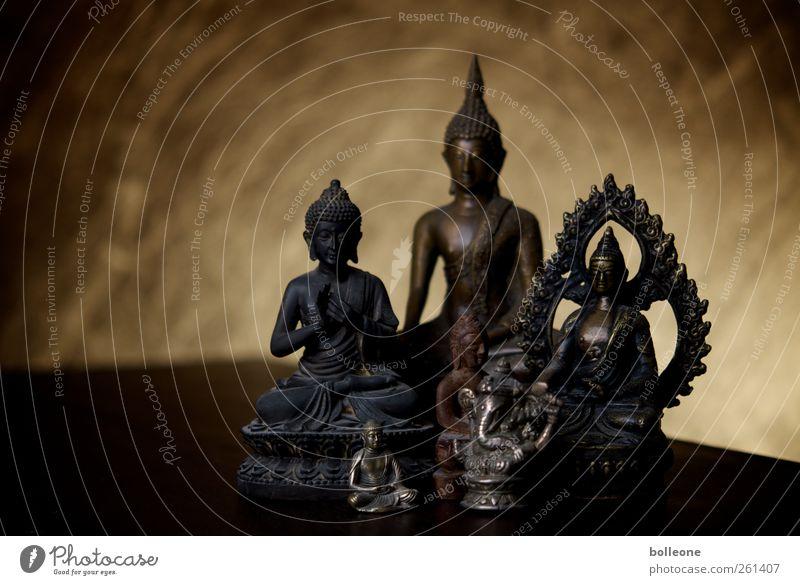 Eine Handvoll Buddhisten Kunst Kunstwerk Buddha Buddha Statue Metall Glück braun gold Lebensfreude Liebe Gelassenheit Wahrheit Weisheit Reinheit