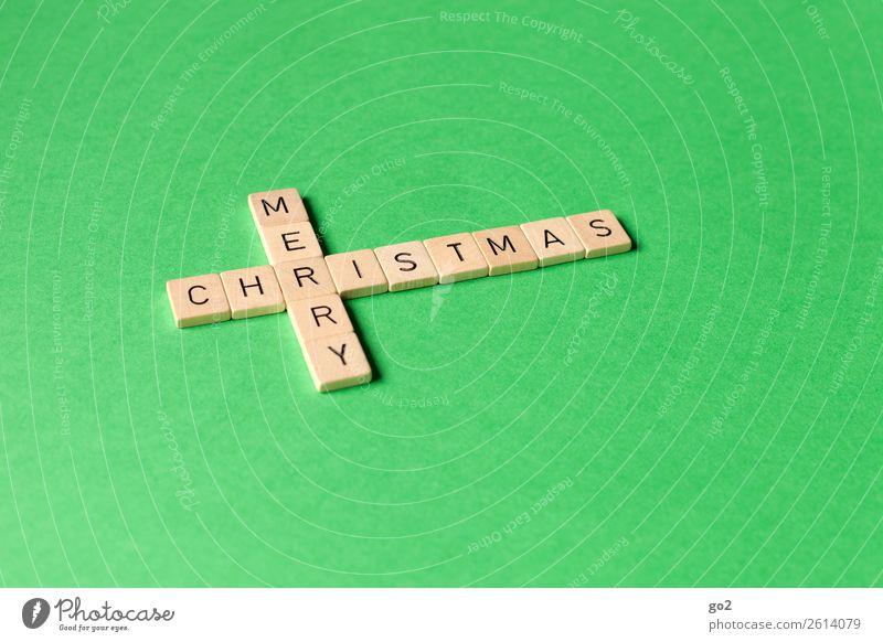 Merry Christmas Weihnachten & Advent grün Religion & Glaube Gefühle Spielen Schriftzeichen Fröhlichkeit Kreativität Lebensfreude Zeichen Wunsch Inspiration