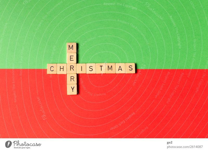 Merry Christmas Weihnachten & Advent grün rot Religion & Glaube Glück Spielen Freizeit & Hobby Dekoration & Verzierung Schriftzeichen Fröhlichkeit Kreativität