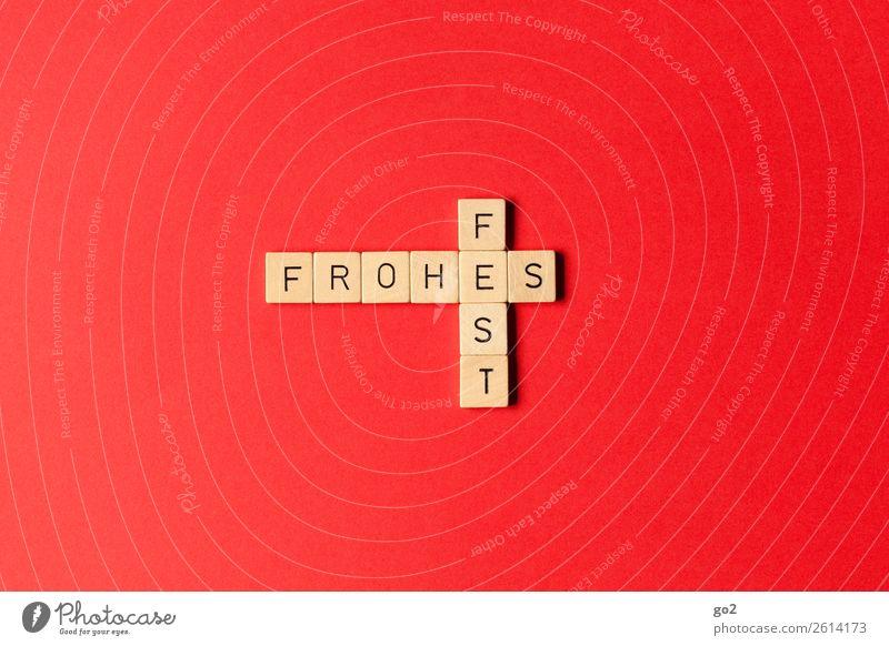 Frohes Fest Spielen Brettspiel Feste & Feiern Weihnachten & Advent Zeichen Schriftzeichen rot Gefühle Glück Fröhlichkeit Zufriedenheit Lebensfreude Vorfreude