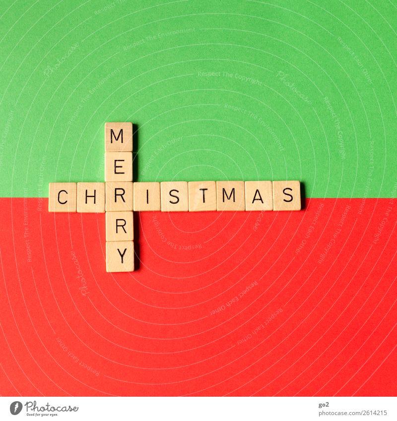 Merry Christmas Weihnachten & Advent grün rot Spielen Zufriedenheit Dekoration & Verzierung Schriftzeichen Fröhlichkeit Lebensfreude Kreativität Idee Wunsch