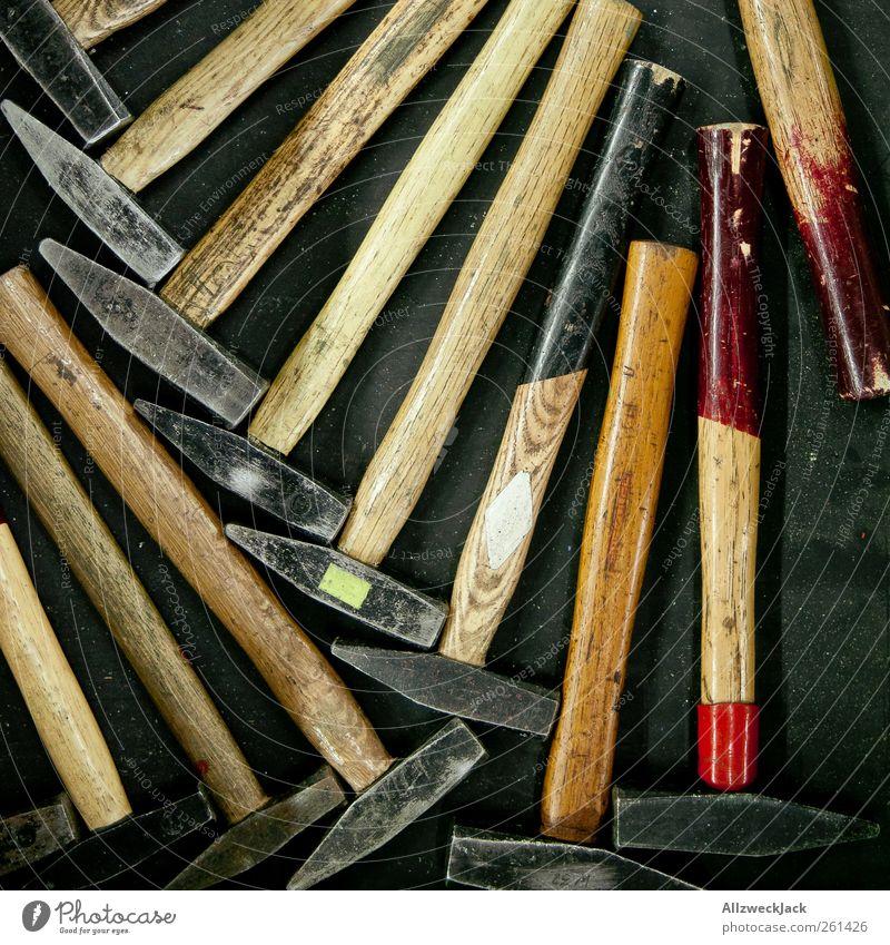 Ein Hammer Foto! Berufsausbildung Handwerker Werkzeug Arbeit & Erwerbstätigkeit alt gebraucht Ordnung Farbfoto Innenaufnahme Detailaufnahme Menschenleer