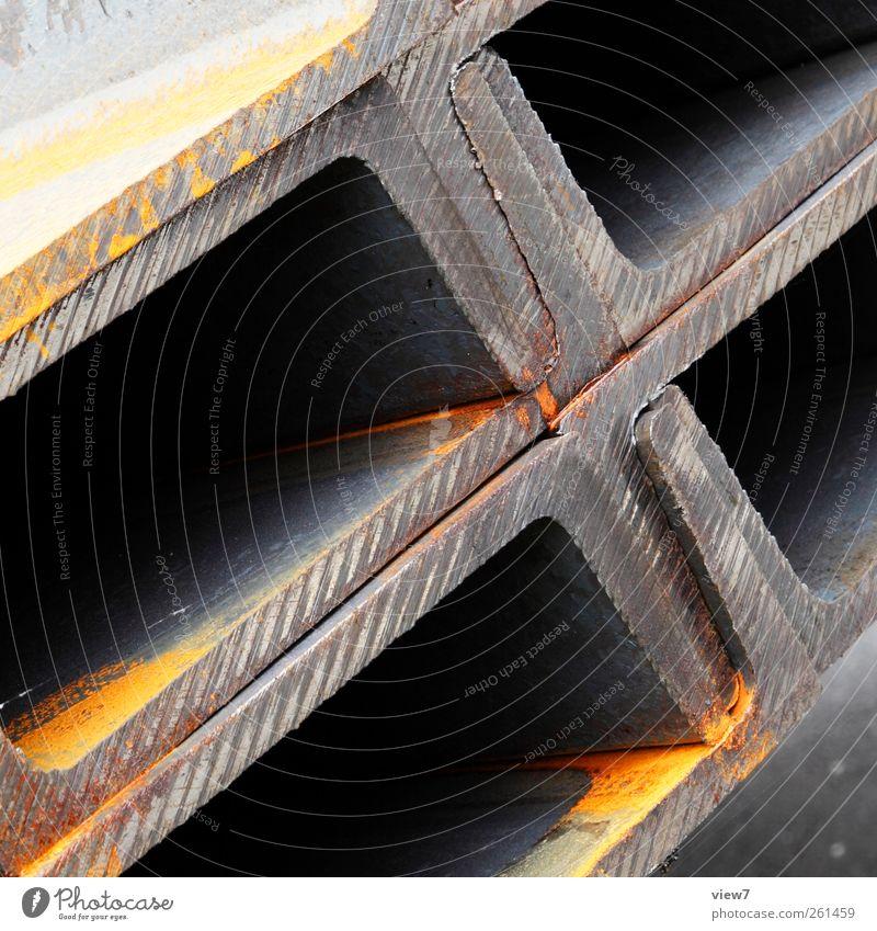 STAHLträger Handwerker Baustelle Industrie Güterverkehr & Logistik Metall Stahl Linie alt authentisch einfach modern Ordnung Präzision Qualität Stahlträger