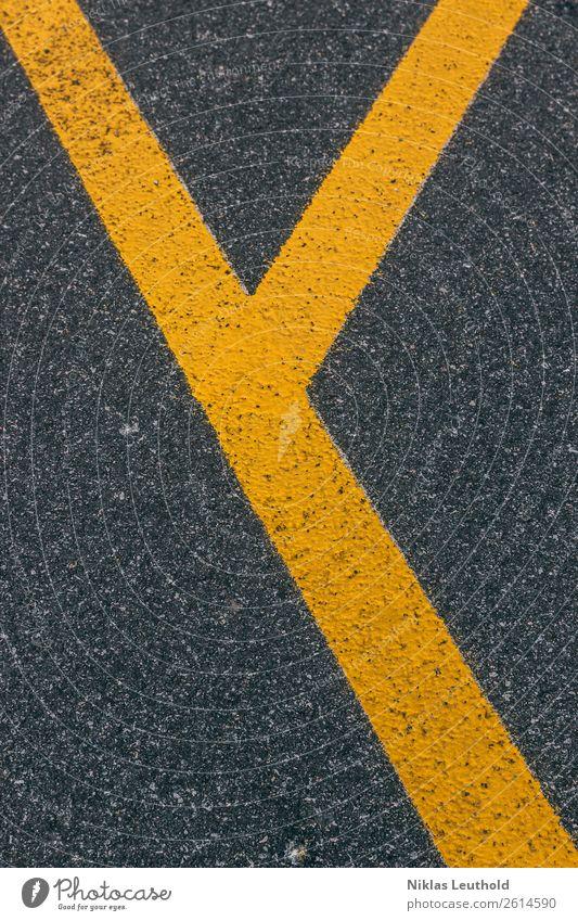 Ypsilon II Menschenleer Straßenverkehr Zeichen Schriftzeichen Schilder & Markierungen Verkehrszeichen Linie Streifen eckig einfach hell modern schön unten Stadt