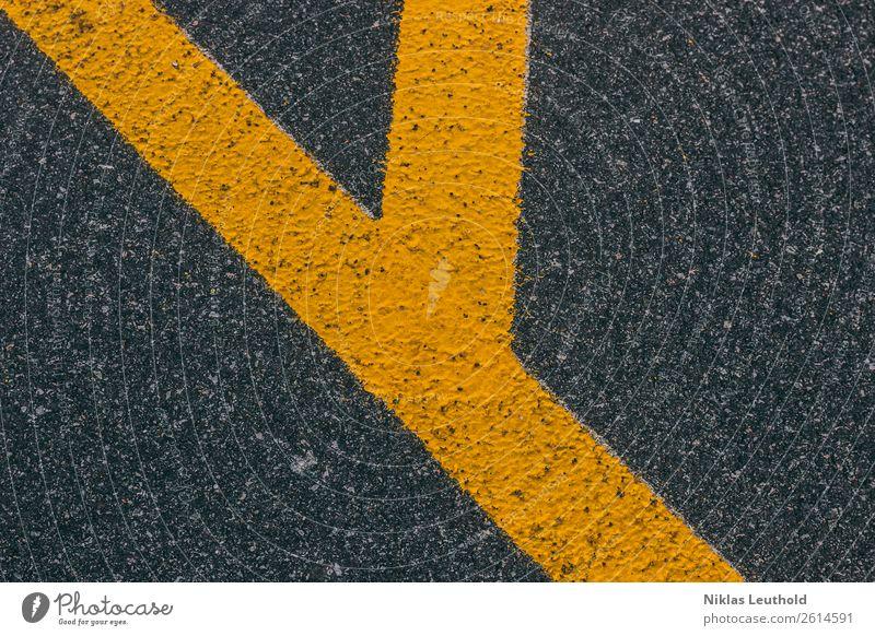 Ypsilon I Menschenleer Straßenverkehr Zeichen Schriftzeichen Schilder & Markierungen Verkehrszeichen Linie Streifen eckig einfach hell modern schön unten Stadt