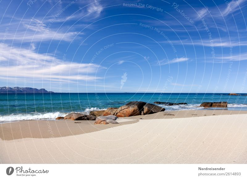 Nordatlantik Himmel Ferien & Urlaub & Reisen Natur Sommer Wasser Landschaft Sonne Meer Wolken Ferne Strand Berge u. Gebirge Tourismus Freiheit Sand Horizont