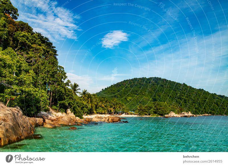 die geschichte VOR dem paradies;) Himmel Ferien & Urlaub & Reisen Natur schön Landschaft Baum Meer Erholung Wolken Blatt Ferne Strand Küste Tourismus