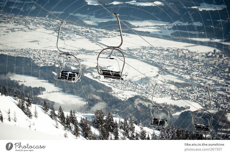 knutschen mit aussicht Ferien & Urlaub & Reisen Stadt Einsamkeit Landschaft Winter Ferne Wald kalt Berge u. Gebirge Schnee Freiheit Eis Freizeit & Hobby