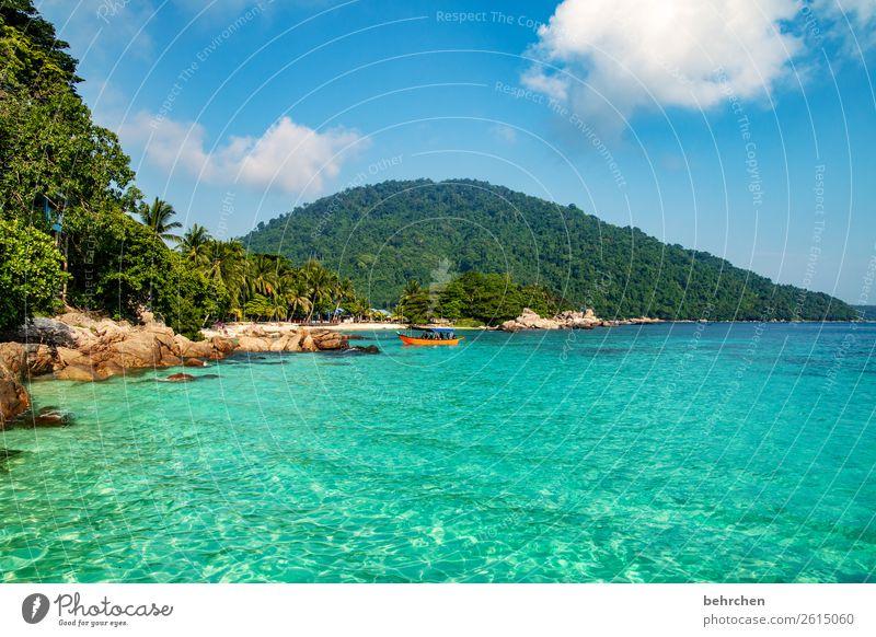 genuss Himmel Ferien & Urlaub & Reisen Natur Wasser Landschaft Meer Erholung Wolken Ferne Strand Berge u. Gebirge Küste Tourismus außergewöhnlich Freiheit