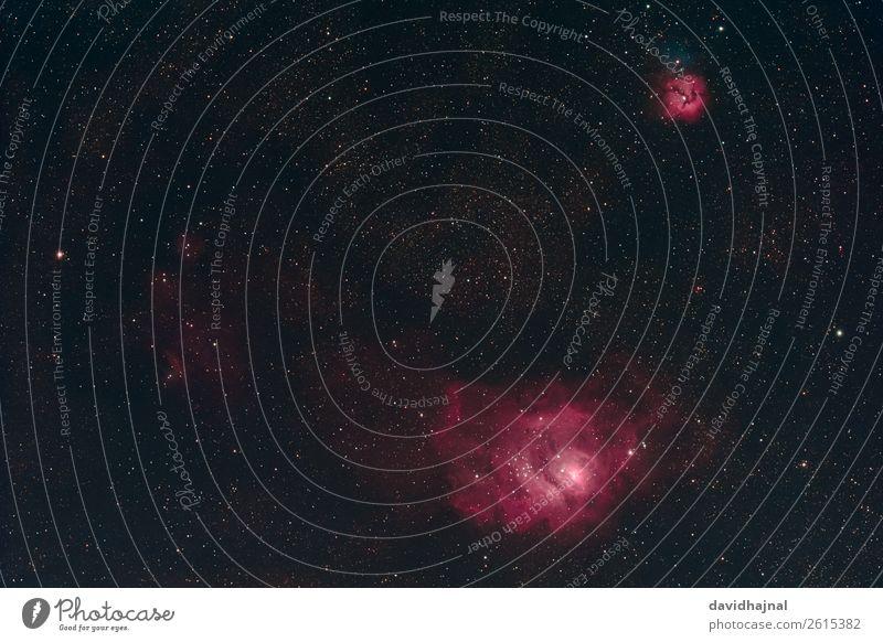 Lagunen- und Trifidnebel Himmel Natur Sommer Umwelt Deutschland Stimmung Nebel Europa Technik & Technologie ästhetisch Abenteuer Zukunft fantastisch Stern