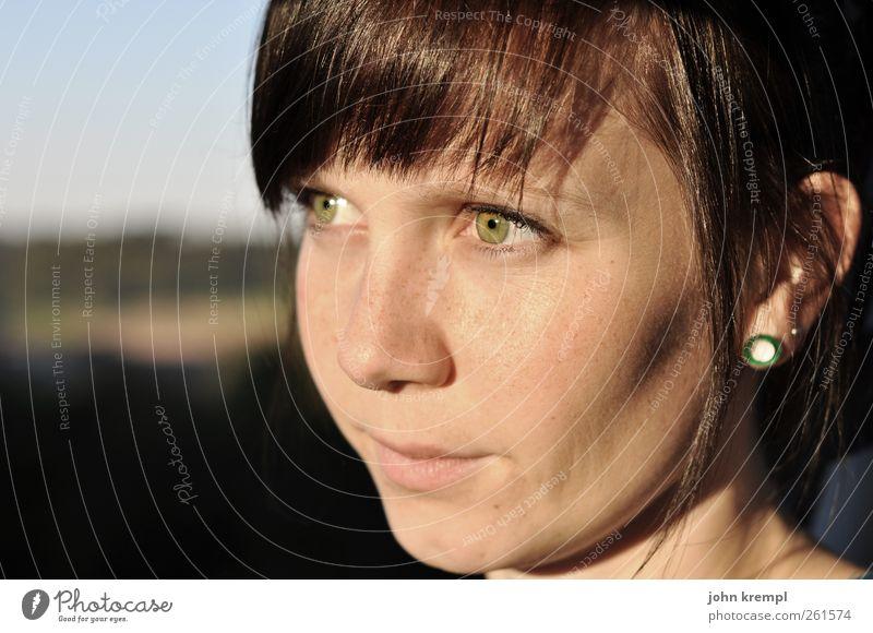 Valendienstag Mensch Jugendliche grün schön Gesicht Erwachsene feminin Glück Stil braun Kraft warten Zukunft Coolness 18-30 Jahre Romantik