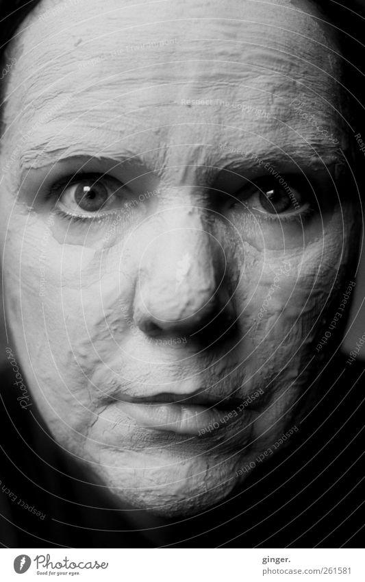 Wenn's schee macht... Mensch Frau schön Erwachsene Gesicht Auge feminin Leben Kopf Mund Wellness 45-60 Jahre Maske Gesichtsausdruck Körperpflege Heilung