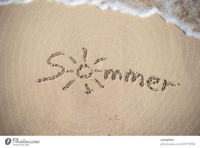 Sommer Strand Urlaub Ferien & Urlaub & Reisen Natur Wasser Sonne Meer Erholung Freude Reisefotografie Glück Tourismus Freiheit Schwimmen & Baden Sand Wellen