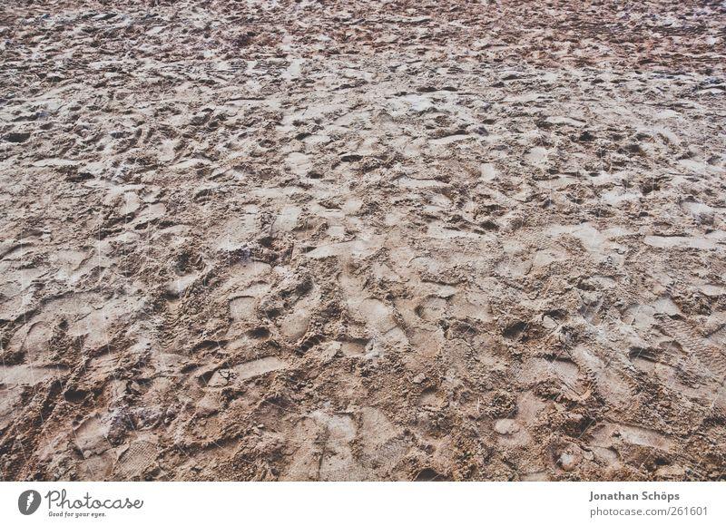 großer Fußabtreter Freizeit & Hobby Spielen Abenteuer Sommer Strand Landschaft braun Sand Sandstrand Abdruck Fußspur Strandspaziergang Stranddüne Strandleben