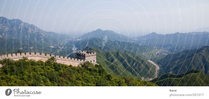 8851,8 Kilometer Umwelt Natur Landschaft Sommer Schönes Wetter Wald Hügel Berge u. Gebirge China Asien Turm Bauwerk Gebäude Mauer Wand Sehenswürdigkeit