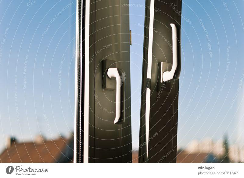 - blau weiß Stadt Haus Ferne Umwelt Fenster Luft Horizont Deutschland offen Glas Design frisch Häusliches Leben Dach