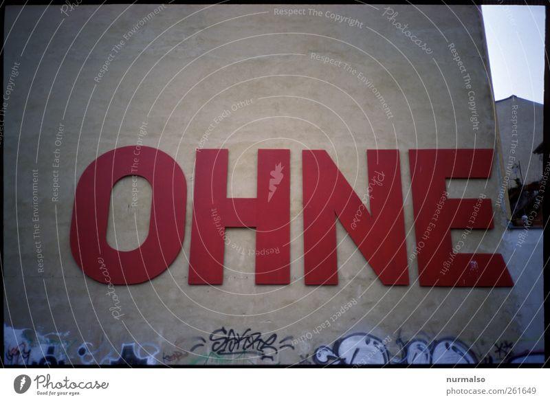 ohne Stadt rot Umwelt Wand Graffiti grau Mauer Stil Kunst Freizeit & Hobby Fassade Schilder & Markierungen Design lernen Schriftzeichen Lifestyle